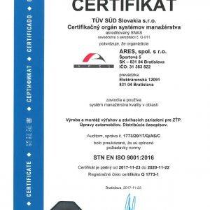 STN EN ISO 9001:2016
