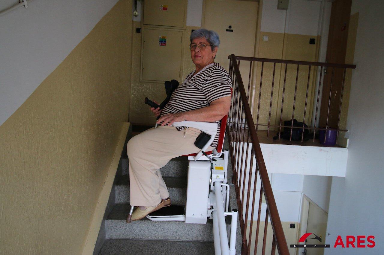Naša klienta už testuje svoj nový Stoličkový výťah | ARES
