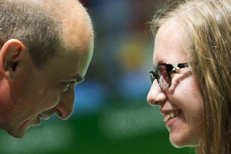 Michaela Balcová so svojim trénerom Martinom Gabkom počas Letných paralympíjských hier v Riu 2016 (FOTO – archív)